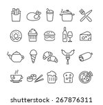 collection of thin lines icons... | Shutterstock .eps vector #267876311