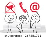 contact us   vector illustration | Shutterstock .eps vector #267881711