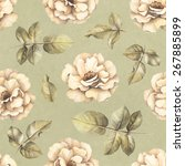 seamless pattern with drawings... | Shutterstock . vector #267885899