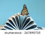 monarch butterfly walking... | Shutterstock . vector #267890735