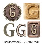 Alphabet Made Of Wood And Metal....