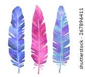 hand painted watercolor bird...   Shutterstock .eps vector #267896411