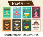 collection of cocktail party... | Shutterstock .eps vector #267898745