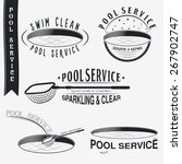 pool service. clean and repair. ... | Shutterstock .eps vector #267902747