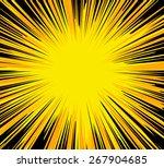 abstract bright sunburst
