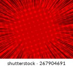 halftone sunburst background | Shutterstock .eps vector #267904691