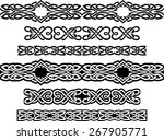 variation of celtic continuous... | Shutterstock .eps vector #267905771