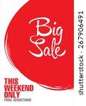 big sale poster | Shutterstock .eps vector #267906491