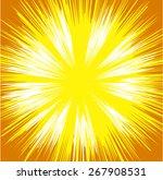 bright sunburst background | Shutterstock .eps vector #267908531