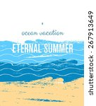 sea background. invitation.... | Shutterstock .eps vector #267913649