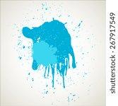 vintage grunge texture drops | Shutterstock .eps vector #267917549