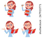 set of the english teacher for... | Shutterstock .eps vector #267923771