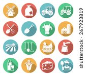 set of agriculture icons on... | Shutterstock .eps vector #267923819