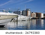 ipswich marina and skyline with ...