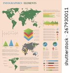travel infographic template... | Shutterstock .eps vector #267930011