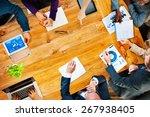 diversity business team...   Shutterstock . vector #267938405