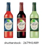 wine bottle illustrations. ... | Shutterstock . vector #267941489