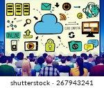 cloud computing network online... | Shutterstock . vector #267943241