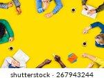 diversity teamwork discussion... | Shutterstock . vector #267943244