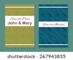 set of two stylish templates... | Shutterstock .eps vector #267943835