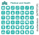medical and health big icon set | Shutterstock . vector #267957191