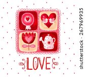 love greeting card. design... | Shutterstock . vector #267969935