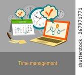 time management concept.... | Shutterstock .eps vector #267971771