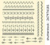 set of hand draw elements for... | Shutterstock .eps vector #267976181