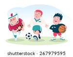 set of cartoon boy  in... | Shutterstock .eps vector #267979595