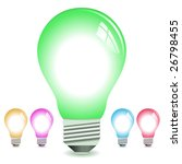 realistic lightbulb vectors in... | Shutterstock .eps vector #26798455