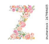 Watercolor Flower Alphabet...