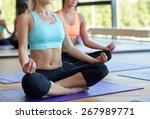 sport  meditation  yoga  people ... | Shutterstock . vector #267989771