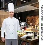 cooking  profession and people... | Shutterstock . vector #268000457