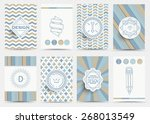 set of retro insignias ... | Shutterstock .eps vector #268013549