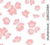 pink cherry blossom. lovely... | Shutterstock .eps vector #268022084