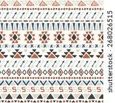 ethnic seamless pattern. aztec... | Shutterstock .eps vector #268026515