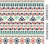 ethnic seamless pattern. aztec... | Shutterstock .eps vector #268026521