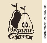 organic food design over... | Shutterstock .eps vector #268039781