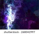 white smoke brush strokes... | Shutterstock .eps vector #268042997
