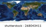 Xxl Size Physical World Map...