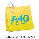 faq memo post sign illustration ...   Shutterstock .eps vector #268047224
