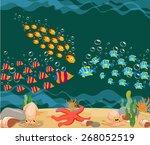 ocean fish. ocean underwater...   Shutterstock .eps vector #268052519