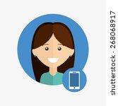 user technology design  vector...   Shutterstock .eps vector #268068917
