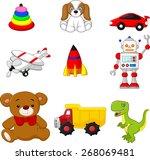 illustration of kid's toy... | Shutterstock .eps vector #268069481