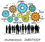 team teamwork goals strategy... | Shutterstock . vector #268074329