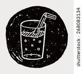 doodle beverages | Shutterstock .eps vector #268083134