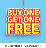buy one get one free label.... | Shutterstock .eps vector #268083944