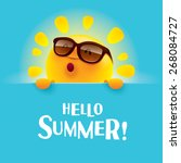 hello summer   | Shutterstock .eps vector #268084727
