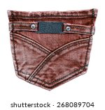 Red Brown Back Jeans Pocket...
