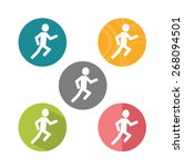 running flat icon | Shutterstock .eps vector #268094501